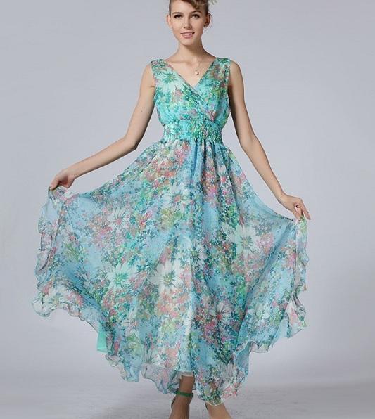 Модель летних платьев из шифона